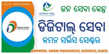 Common Service Center logo image Orissa